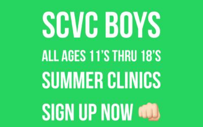 Boys ALL AGES Summer Clinics!